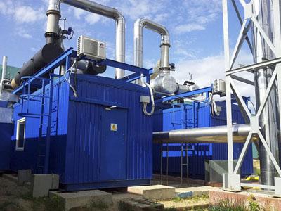 Система вентиляции газопоршневой теплоэлектростанции