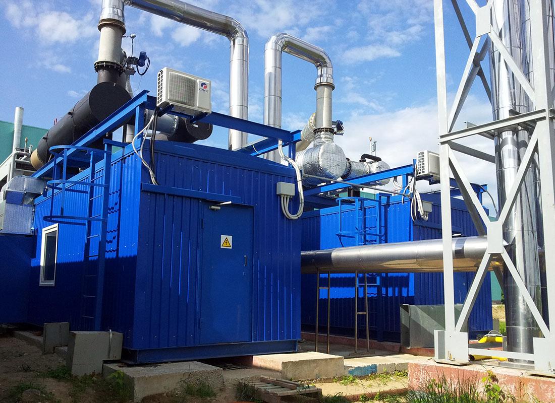 Система вентиляции газопоршневой теплоэлектростанции - газопоршневая теплоэлектростанция 2