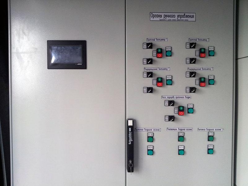 Система вентиляции газопоршневой теплоэлектростанции - шкаф управления вентиляцией 1