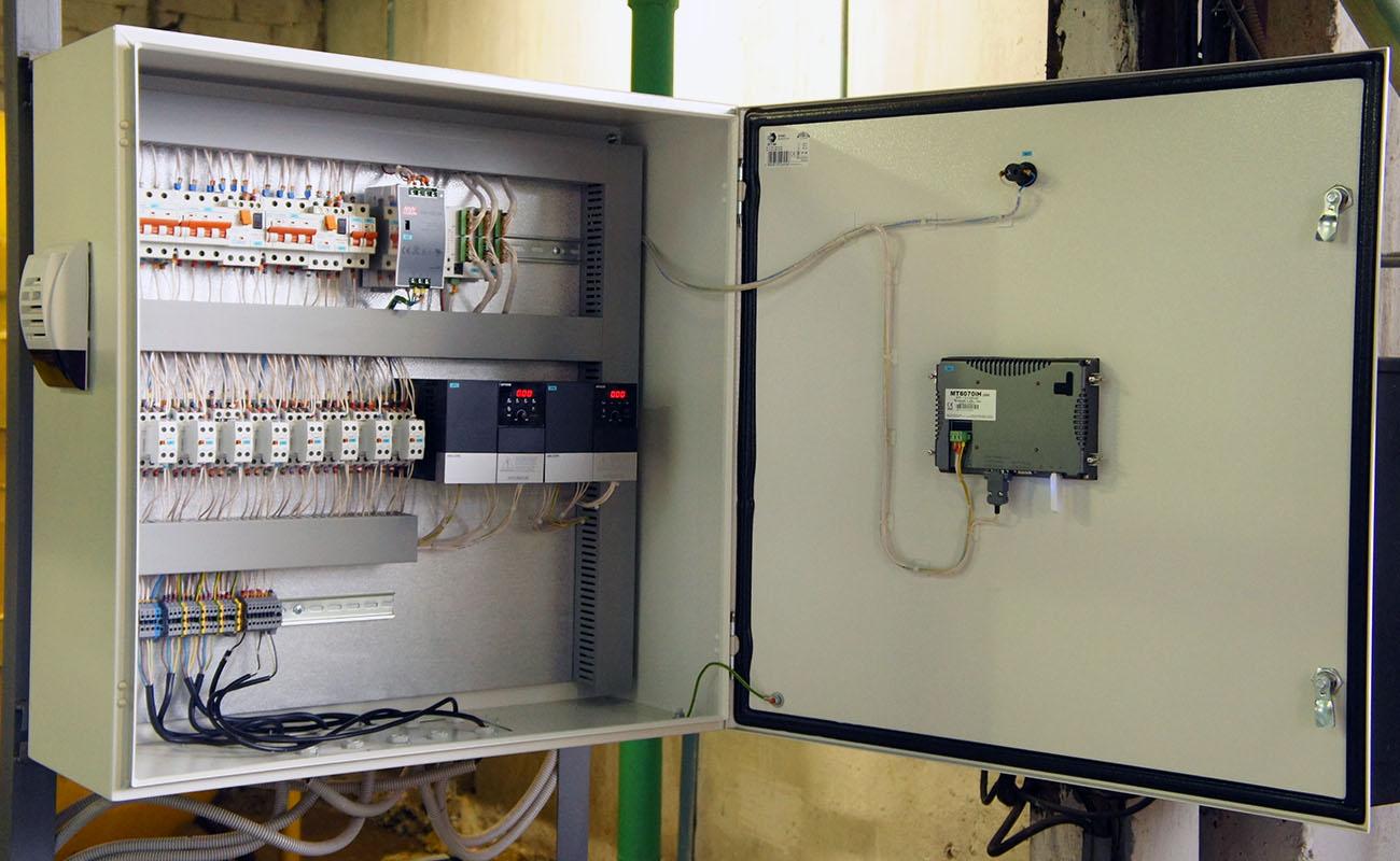Система управления насосной станцией - пульт управления 1