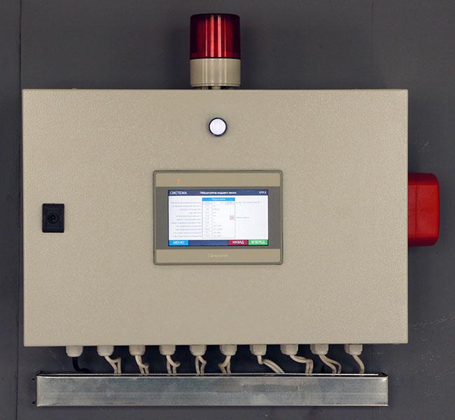 Автоматизированная система управления сетевыми насосами - щит управления 1