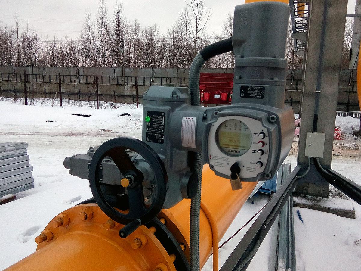 АСУ ТП РГ - задвижка на газопроводе AUMA 2