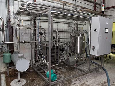 Пульт управления модульной пастеризационно-охладительной установкой для кваса