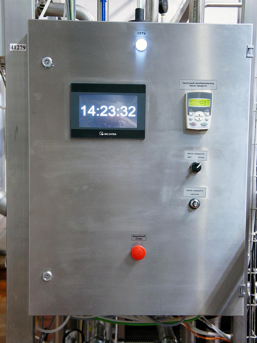 Пульт управления пастеризационно охладительной установкой для сливок - пульт управления ПОУ-5000 1