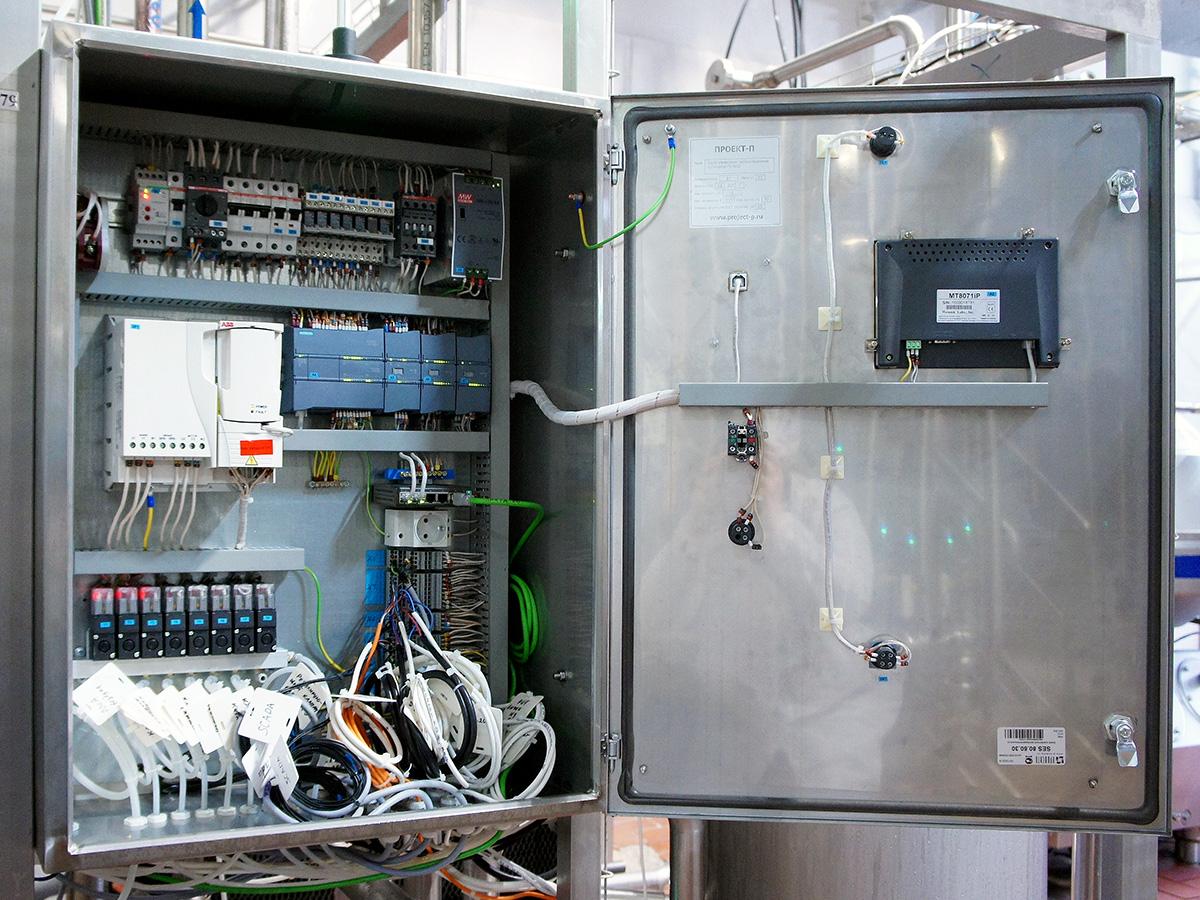 Пульт управления пастеризационно охладительной установкой для сливок - пульт управления ПОУ-5000 2
