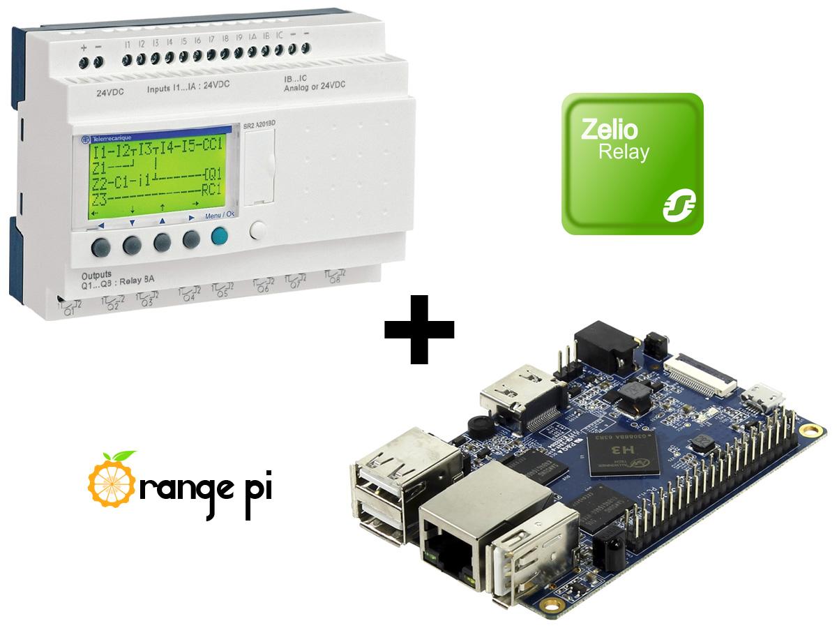 WEB диспетчеризация шкафа АВР - Zelio + Orange Pi PC 2