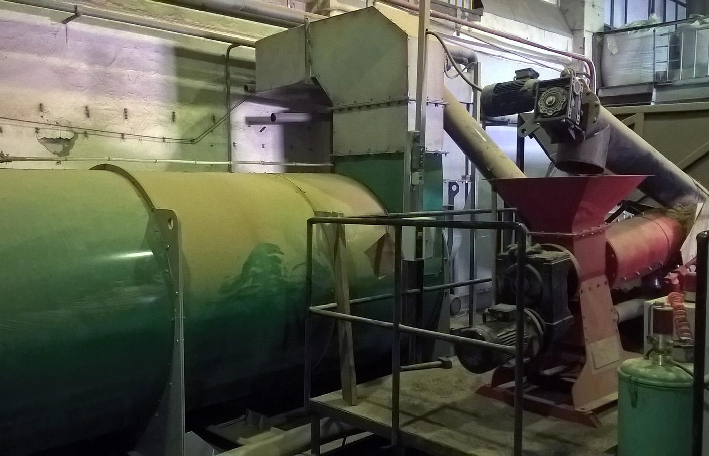 Автоматизация сушильной камеры для сушки пивной дробины - роторный сушильный комплекс 2