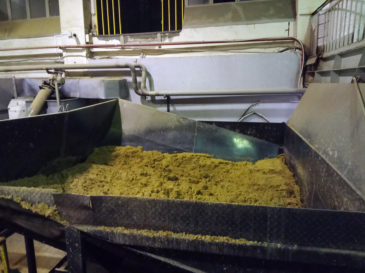 Автоматизация сушильной камеры для сушки пивной дробины - приемный бункер