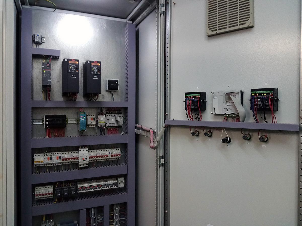 Автоматизация сушильной камеры для сушки пивной дробины - шкаф автоматики 1