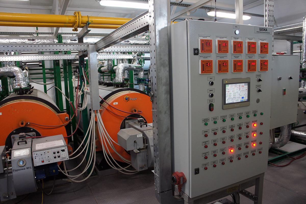 Пусконаладочные работы котельной 3.24МВт - газовый модуль - шкаф автоматики 1