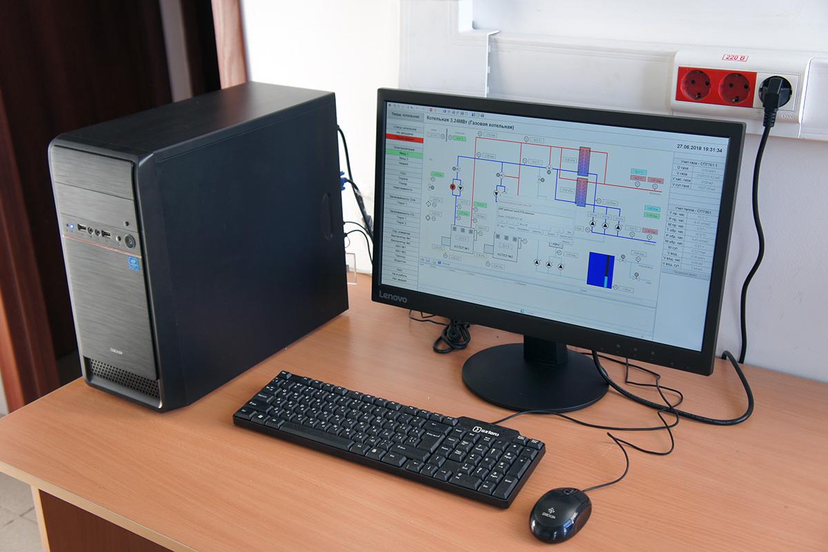 Пусконаладочные работы котельной 3.24МВт - АРМ оператора