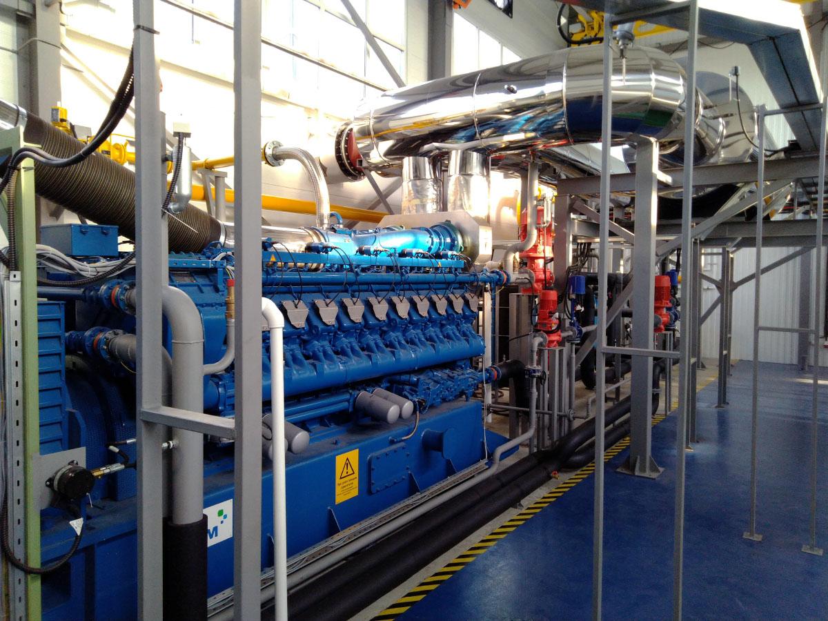 Автоматизированная система управления мощностью газопоршневой электростанции - ГПУ MWM 3
