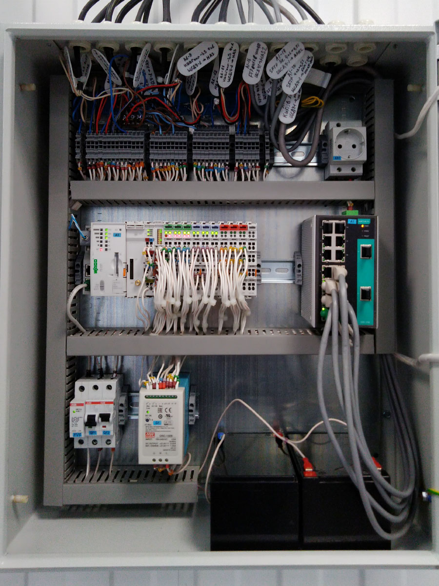 Автоматизированная система управления мощностью газопоршневой электростанции - шкаф АСДУ 2