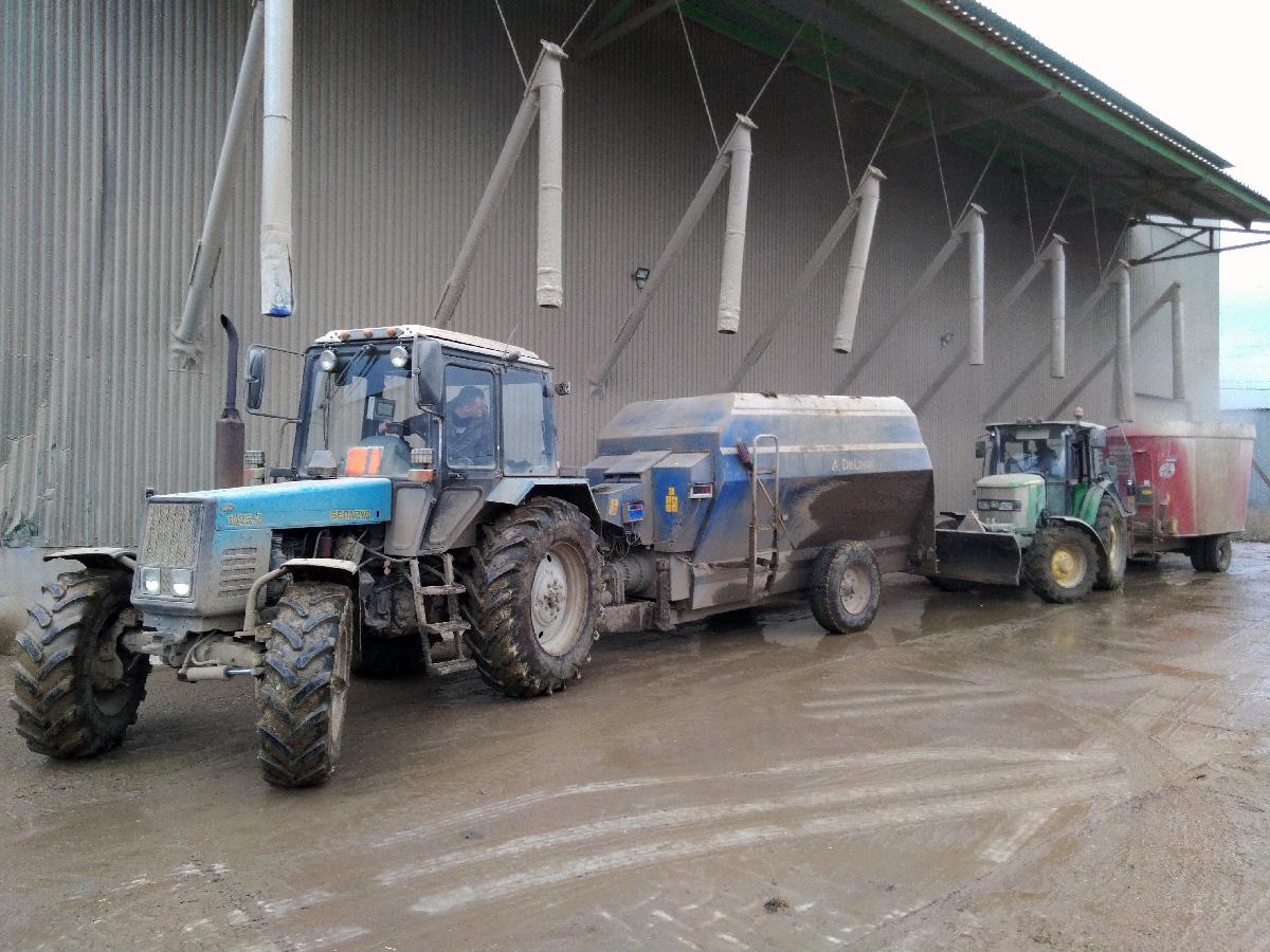 Автоматизация кормоцеха - отгрузка кормов в кормораздатчики