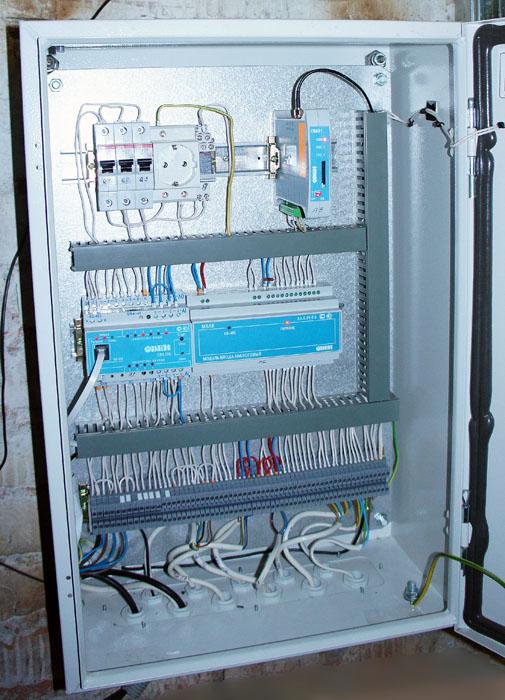 Система телеметрии газовой котельной - щит телеметрии