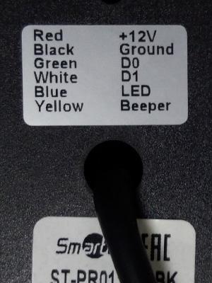 Маркировка проводов RFID считывателя
