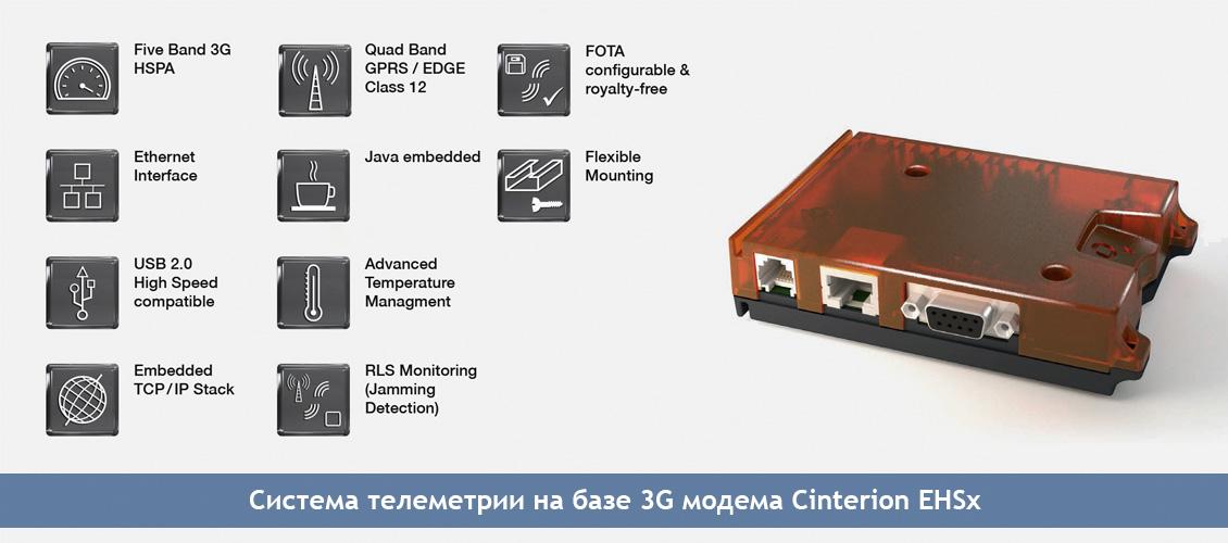 Система телеметрии на базе 3G модема Cinterion EHSx